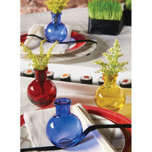 Transparent Glass Vases 3.5 inch Bud Vases Pack of 5 Table Decorations - ₨1,515.46 INR