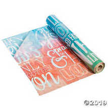 He Lives Watercolor Plastic Tablecloth Roll - $24.99