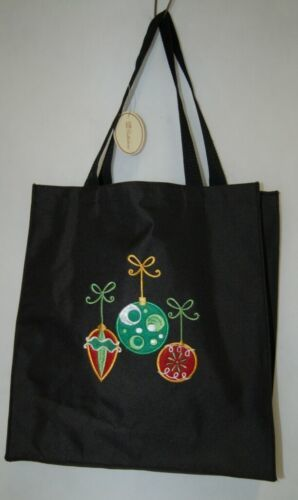 Transpac Imports Inc W1186 Tii Collection Fiber Optic Holiday Large Black Tote