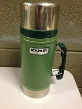 Stanley Aladdin 24 oz Wide Mouth Green Metal Thermos with Handle 20-00082 (d43) - $28.04