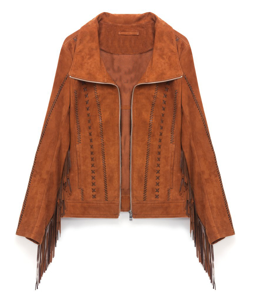 Handmade suede fringe  jacket  womens fashion designer lether jacket for women s