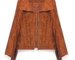 Handmade suede fringe  jacket  womens fashion designer lether jacket for women s thumb155 crop