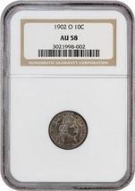 1902-O 10c NGC AU58 - Barber Dime - Scarce Date - $373.45