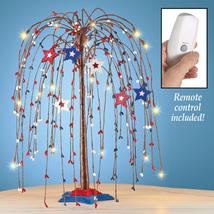 Americana Star Lighted Tree Tabletop Decoration - $32.41