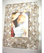 "Gorham Crystal Mini Frame Sentimental Traditions Sculpted 1.75""x2.5"" - $14.00"