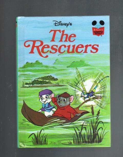 Disney's The Rescuers, Hardcover Book, 1977, The Wonderful World of Reading