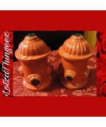 Engine Red Fire Hydrant Salt & Pepper Shakers Great Firefighter Gift - $11.29