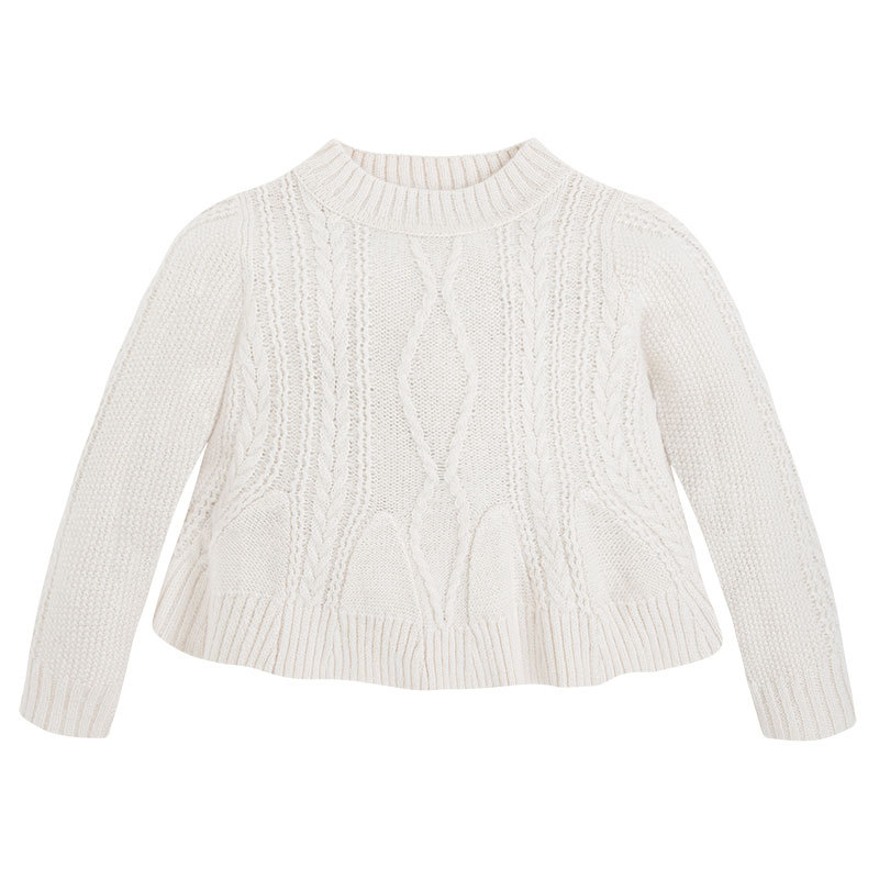 Mayoral Little Girls 2T-9 Cable Knit Pullover Sweater
