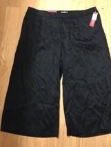 #368-- Merona Culotte relaxed capri black casual pants, new, size 16 /R - $15.43