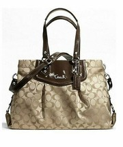 Coach Signature Ashley Carryall Tote in Khaki - $54.45