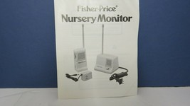 vintage fisher price nursery monitor user manual guide 1985 - $9.99