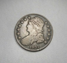 1831 Silver Capped Bust Half Dollar Coin AI260 - $115.07