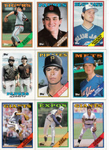 1988 Topps Baseball Cards  lot of 9 - $4.50