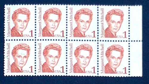 8 AUTHOR MARGARET MITCHELL 1 CENT POSTAL STAMPS USA VG FREE SHIPPING USA