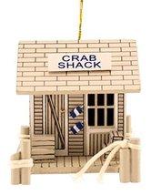 Wood Crab Shack Coastal 3 Inch Christmas Holiday Ornament