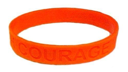 Orange Awareness Bracelets Lot of 100 Leukemia Support Silicone IMPERFECT New