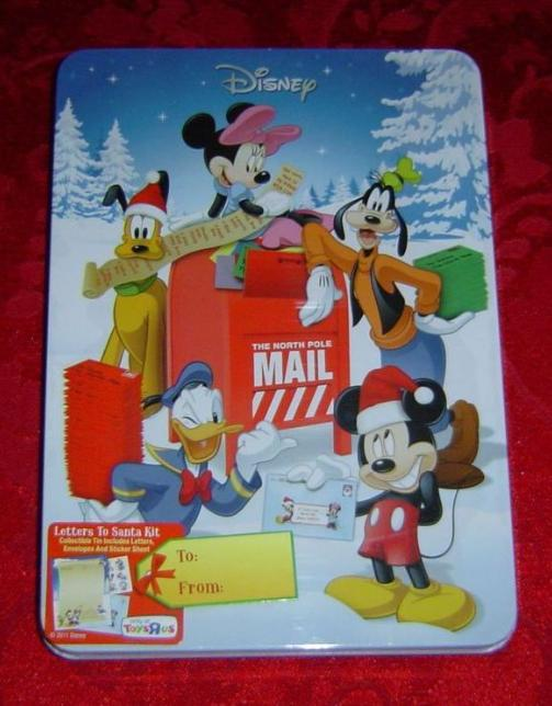 Disney Letters to Santa Kit in collectible tin