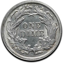 1891 Silver Seated Dime 10¢ Coin Lot# A 442 image 2