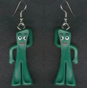 Gumby earrings