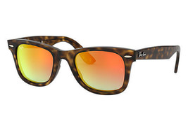 Ray-ban Wayfarer Ease Occhiali da Sole RB4340 710/4W 50 Tartaruga Arancione - $97.02