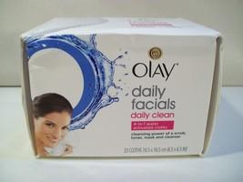 New Olay Daily Cl EAN 4-IN-1 Daily Facial Cloths 33 Ct Cl EAN Ser Toner Mask Scrub - $9.75