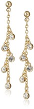 Chloe+Theodora 14K Gold Plated Waterfall Cubic Zirconia Crystal Droplet Earrings