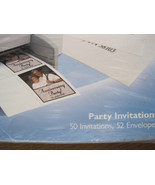 Invent It 50 Party Invitations Print Your Own 52 Envelopes Matt Finish New - $14.95