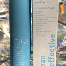 NEW IN BOX Tula Skincare Glow & Get It .35oz (10g) Cooling Brightening Eye Balm image 2