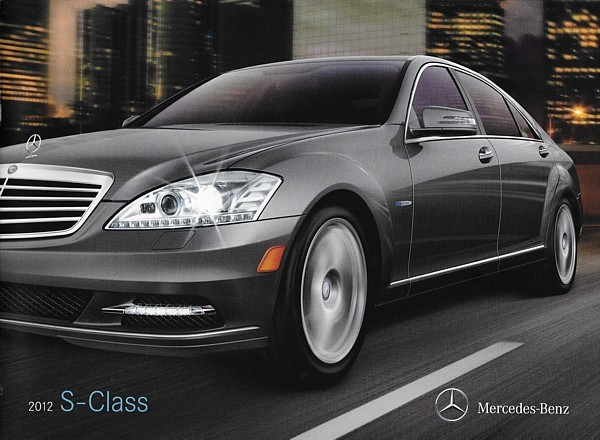 Primary image for 2012 Mercedes-Benz S-CLASS brochure catalog 350 400 HYBRID 550 600 S63 S65 AMG