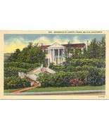Loretta Young Bel Air Hollywood Calif Post Card Linen Era - $5.00