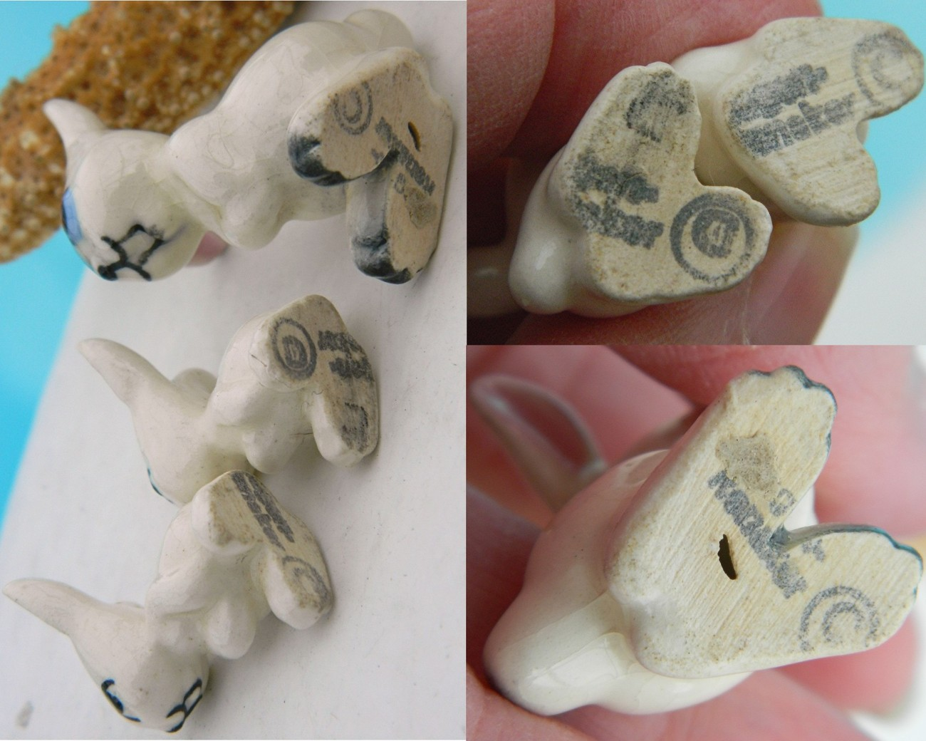 Set Vintage Hagen Renaker Early Miniature Rabbit Ears Apart