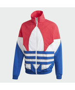 Adidas Originals Men's Big Trefoil Outline Woven Colorblock Track Jacket... - $110.63