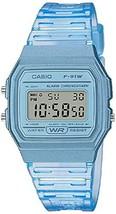 Casio Quartz Watch with Resin Strap, Blue, 20 (Model: F-91WS-2CF) - $34.92