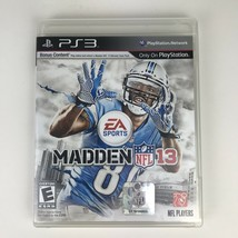 Madden NFL 13 2013 Sony Playstation 3 PS3 2012 Football Complete EA Video Game - $5.99