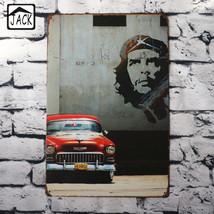 Retro-Red-Car-Wall-Decor-20-30CM-Metal-Plaques-Gallery-Coffee-Shop-Bar-W... - $21.33