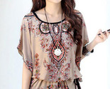 Chiffon floral print bohemian style blouses lc25472 thumb155 crop