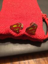 DC Comics Superman Gold Tone Shield Cufflinks - $44.55