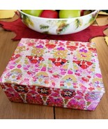 Colorful Flowers Velvet Lined LG Trinket Box Huangyan Youyi Glass Crafts... - $28.99