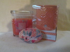 Colonial Candle Boxed Coral Electric Wax Warmer, Snap & 8 oz Jar- PEACH ... - $36.00