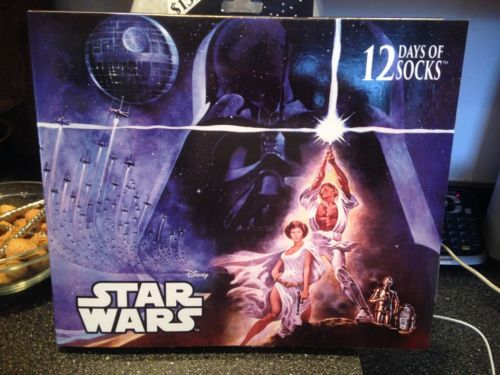 Disney Star Wars 12 Days of Socks Advent Calendar Size 6-12 Rare Cover Brand New