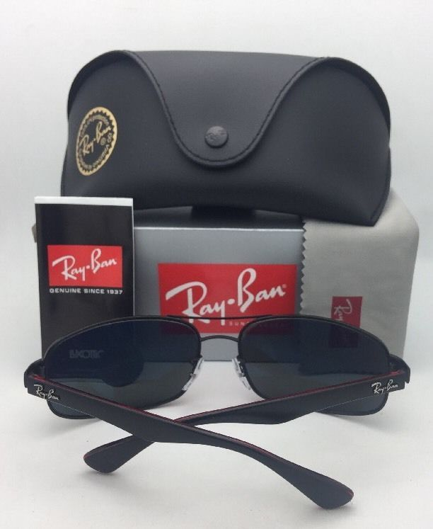 RAY-BAN Sunglasses RB 3445 006/11 61-17 130 Matte Black Frame w/ Grey Gradient