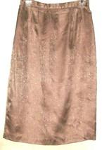 Women's Brown 100% Silk Skirt Size 10 - $8.00