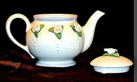 Ceramic TeaPot with Lid White Ceramic Teapot  AB 535-C Vintage image 3