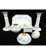Limoges T&V dresser set tray powder hair receiver egg candlesticks LIMOGE - $133.65