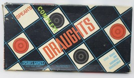 Vintage Draughts By Spear's Games Complete Good Condition Hardwood pieces - $18.49