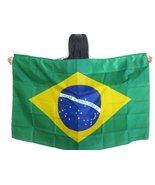 "Brazil Flag Wearable Country Flag. ""Made to Wear"" 3ft×5ft, Unisex. Vibra... - $19.59"