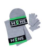 Bioworld Minecraft Boys' Hat, Gloves, and Scarf Set, 3 Piece - $19.99