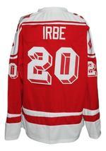 Arturs Irbe #20 Russia CCCP Custom Retro Hockey Jersey New Red Any Size image 2