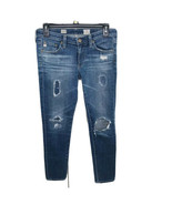 AG Adriano Goldschmied Stevie Ankle Slim Straight Jeans Size 26R Distressed - $39.59