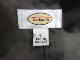 Talbots Womens Business Blazer Size 6 Brown Narrow Stripes 100% Wool Lined image 7